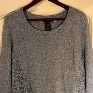 Style&Co grey cotton blend sweater